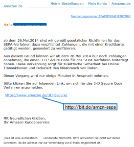 Phishing: Fake-Mail - Volksbank Lübbecker Land