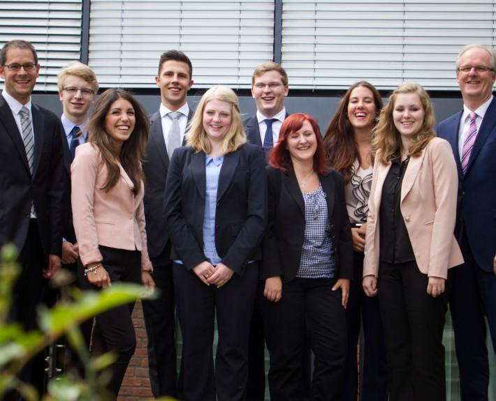 Volksbank Lübbecker Land: Beginn der Ausbildung 2014