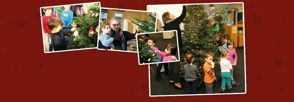 Weihnachtsbaumschmucken Kindergarten Besuchten Uns