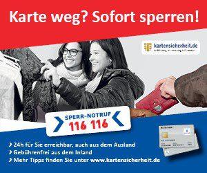 Kartensicherheit Volksbank Lübbecker Land sperren