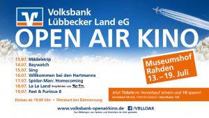 Open-Air-Kino 2017 Volksbank Lübbecker Land