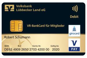 Kontaktlos zahlen Volksbank Lübbecker Land