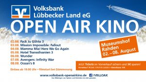 Open-Air-Kino 2018 Volksbank Lübbecker Land