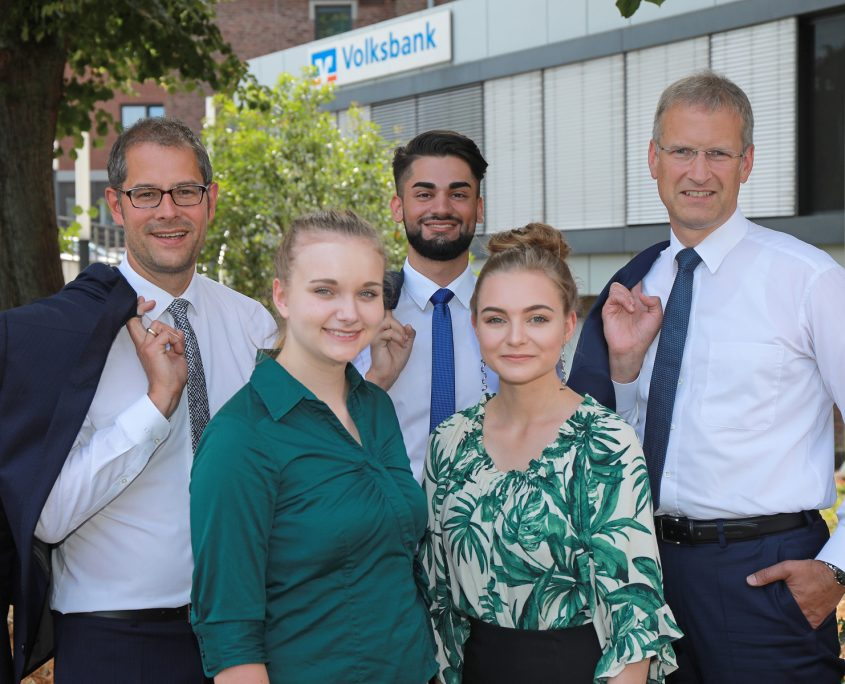 Volksbank Lübbecker Land 2018 Ausbildungsbeginn
