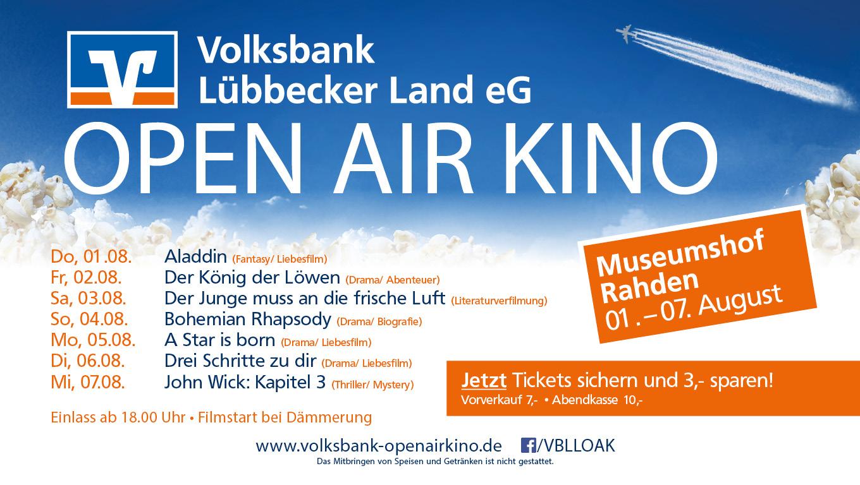 Volksbank Lübbecker Land Freiluftkino 2019