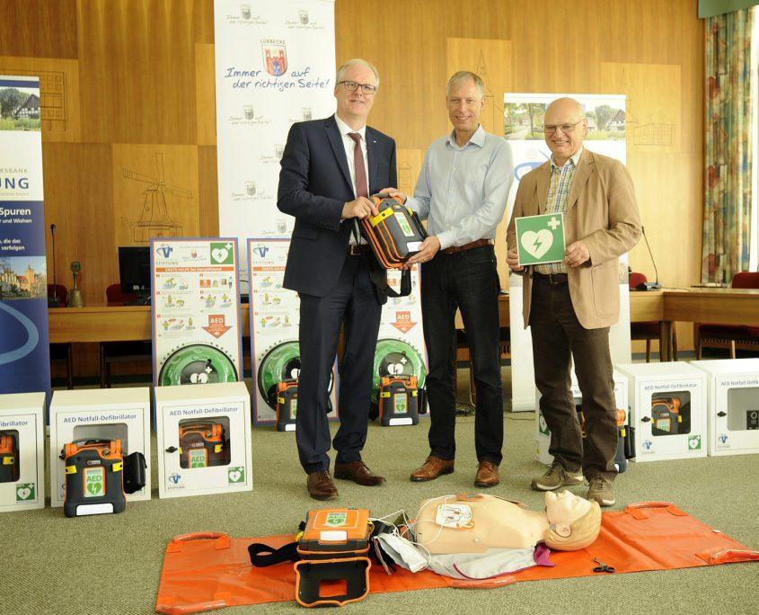 Volksbank Stiftung Defibrillatoren 2019