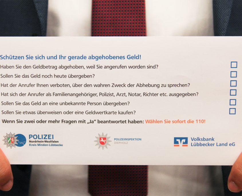 Volksbank Lübbecker Land Geldumschläge 2020
