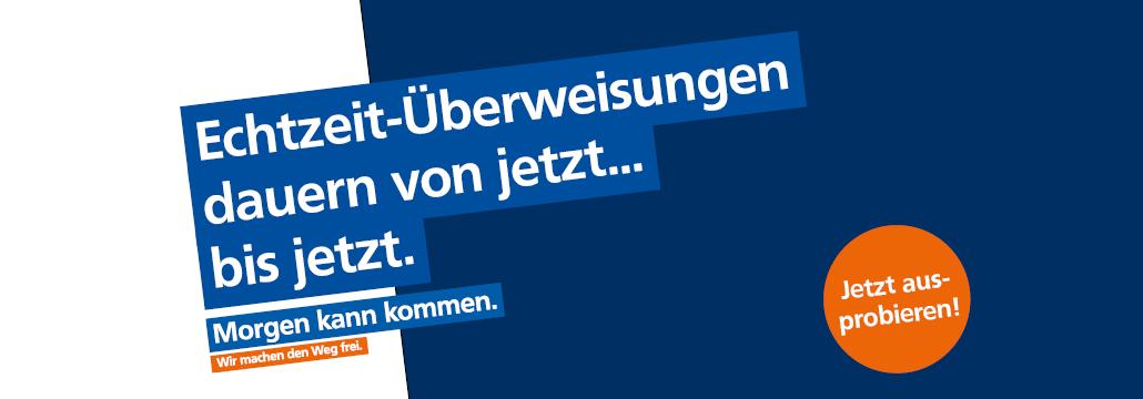 Echtzeit-Überweisung Volksbank Lübbecker Land