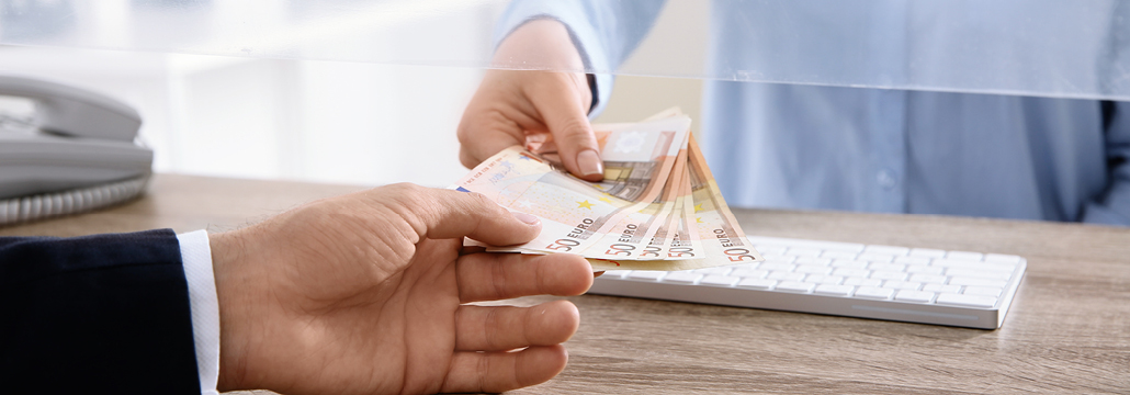 Bargeldeinzahlungen Volksbank Lübbecker Land 2021
